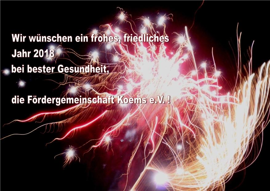 Fördergemeinschaft Koems e.V. -Archiv- Wünsche zum Jahreswechsel